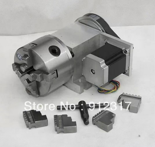 CNC Rotary axis,the A axis, the fourth rotation axis, K12 100mm  three claw chuck 6:1 cnc 5axis a aixs rotary axis t chuck type for cnc router cnc milling machine best quality