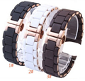 Correa de reloj de 20 mm 23 mm Men blanco marrón caucho de silicón Diver relojes de la correa pulseras oro rosa mariposa hebilla para AR5890 AR591