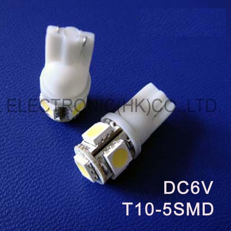 High quality DC6V 6.3V T10 W5W 194 168 501 Wedge Led Warning Signal,Indicator Lights,Instrument Lamps free shipping 50pcs/lot