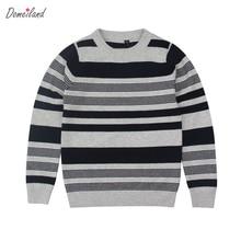 2017 mode d'hiver marque domeiland Enfants vêtements pour garçon Rayé à manches longues en tricot Chandails Pull coton Vêtements