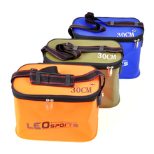 High Quality 30*20*20cm Outdoor EVA Bucket Folding Portable Camping Hiking Fishing Bags