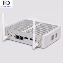 Fanless dual lan micro pc Win 10 Intel celeron N3150 Quad Core up to 2.08Ghz Dual nic HDMI HTPC small computer