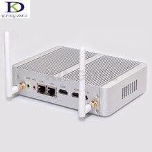 Fanless dual lan micro pc Win 10 Intel celeron N3150 Quad Core до 2.08 ГГц Двойной nic HDMI HTPC небольшой компьютер
