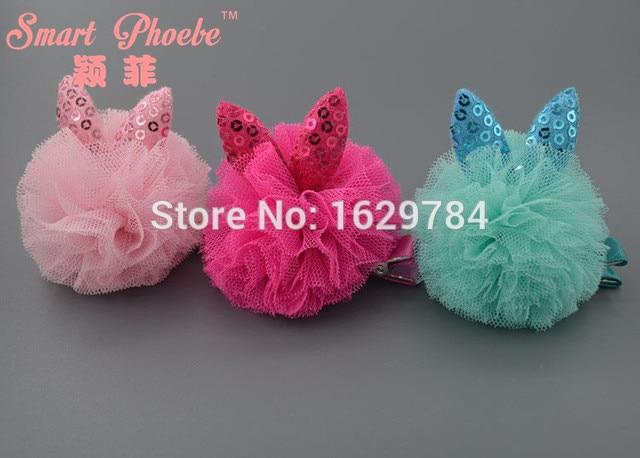 Boutique 15pcs/3C Fashion Cute Gauze Rabbit Ears Hairpins Kawaii - Apparel Accessories