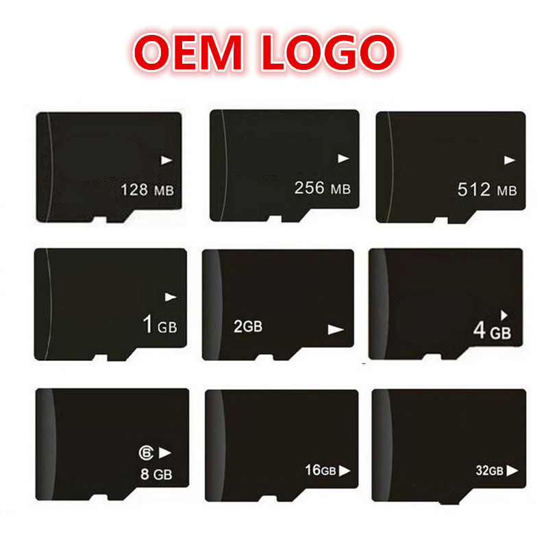OEM LOGO!!! 100pcs/ Lot 64MB 128MB 256MB 512MB 1GB 2GB 4GB 8GB Micro SD Card TF Card Memory Card For Cell Phone