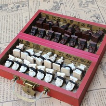 Chess Antique Three-dimensional Resin Piece Small Folding Board Set Travel Entertainment Gifts Parent-child