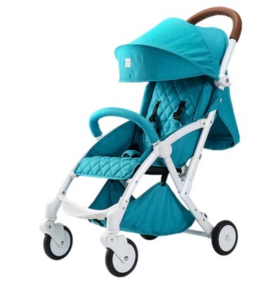 Baby stroller trolley light folding can sit can lie children suspension four-wheeled cart