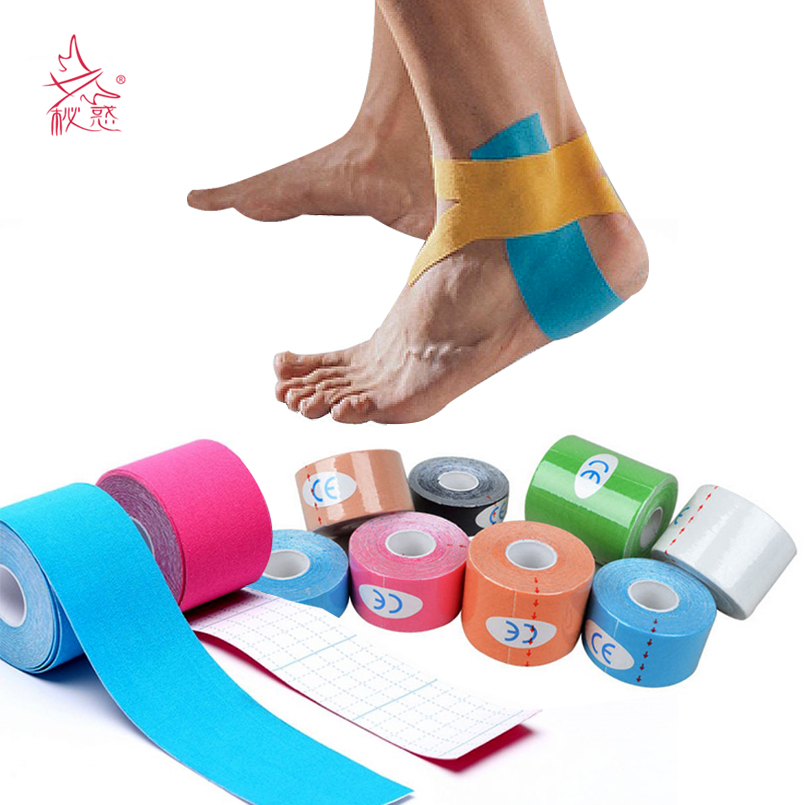 5cmx5m Elastic Waterproof Sport Muscle Tape Strain Protection Roll First Aid Bandage Support Knee Kinesiology Tape