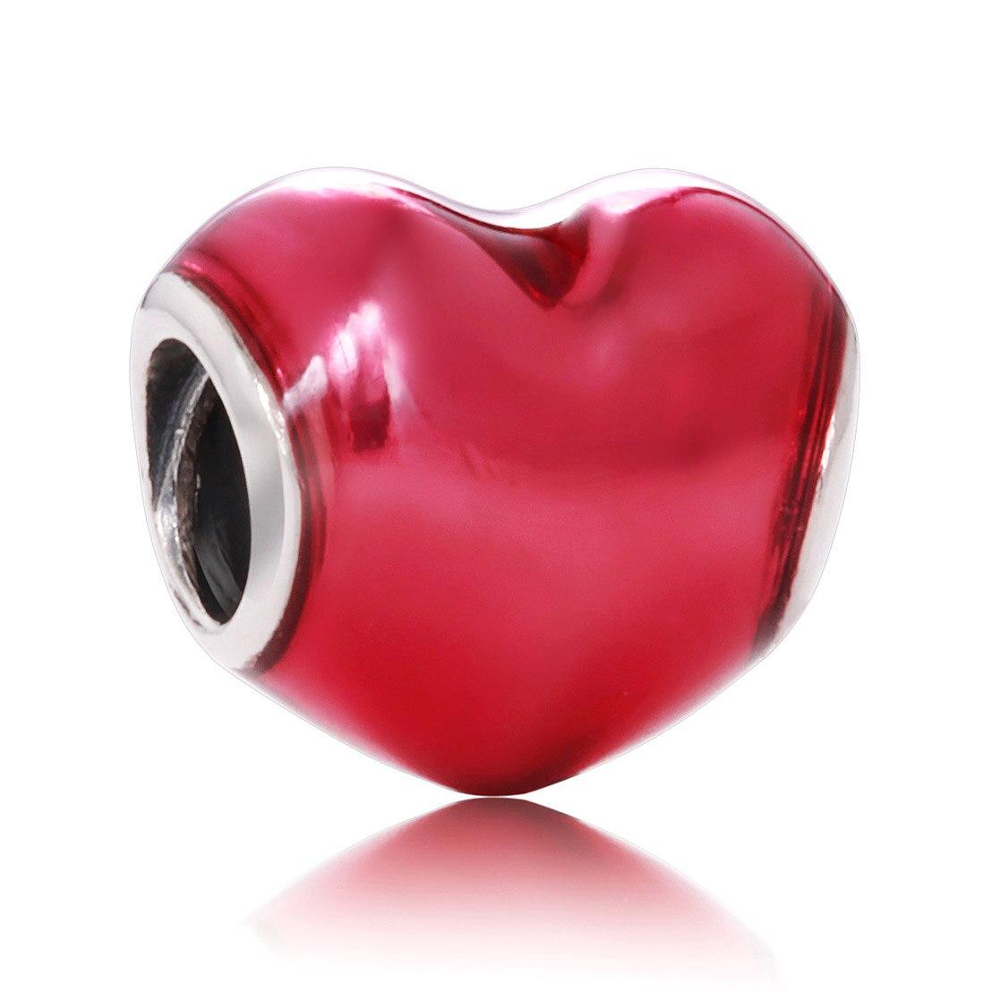 Микки и Минни лук и кружева подарки ленты Sweet Love Сердце Шарм Fit Пандора браслет стерлингового серебра 925 бисера шарм ювелирных изделий
