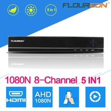FLOUREON 8CH 1080N AHD HDMI H.264 CCTV DVR Security Video Recorder NVR Surveillance System Digital Video Recorder For CCTV