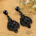 Very Good Quality Women Wedding Earrings Colar Fashion Black Jet crystal brincos Accessories brand Max Brinco Women Aretes Joias