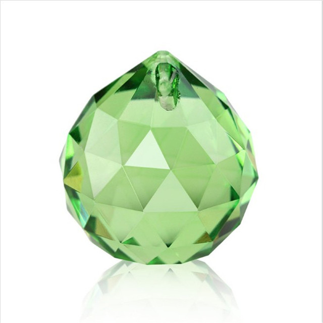 Nature Lt Green 5pcs 40mm Glass Prism Balls For Crystal Chandelier Parts Lamp Garlands Strands Decoration Pendants Parts