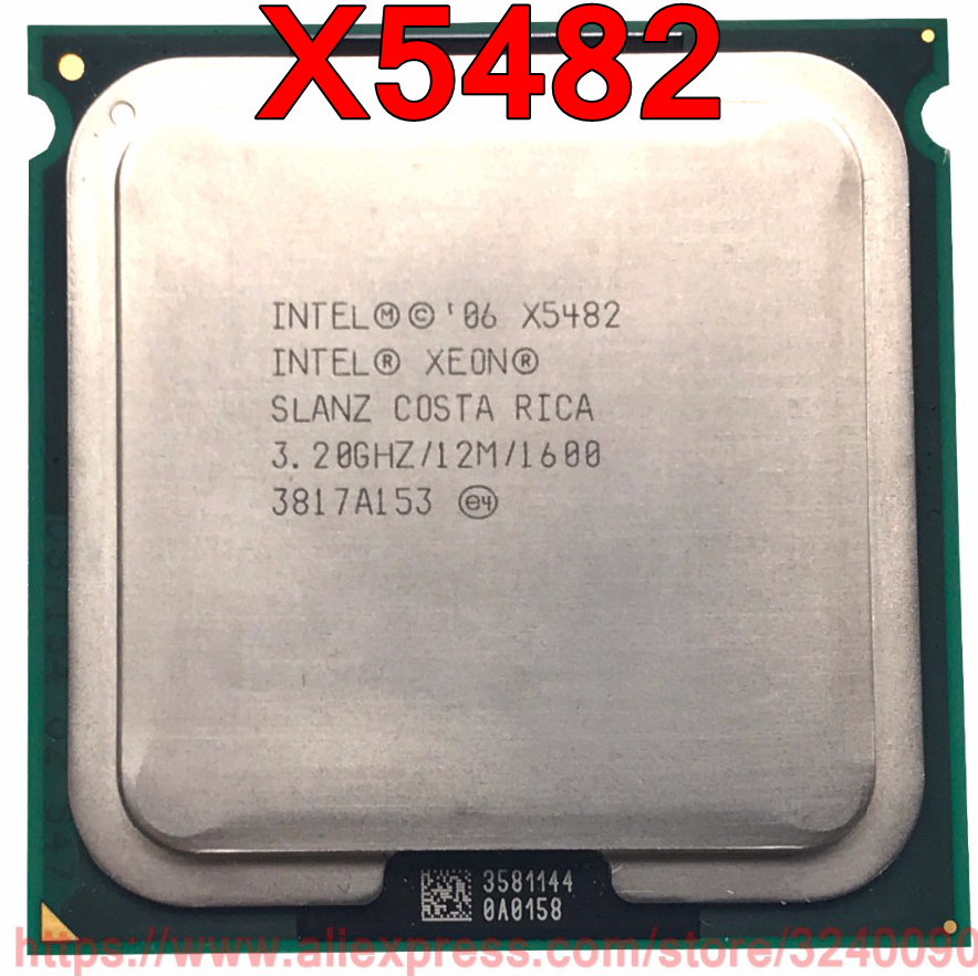 Original Intel CPU Xeon X5482 Processor 3 20GHz 12M 1600MHz Quad Core Socket 771 free shipping