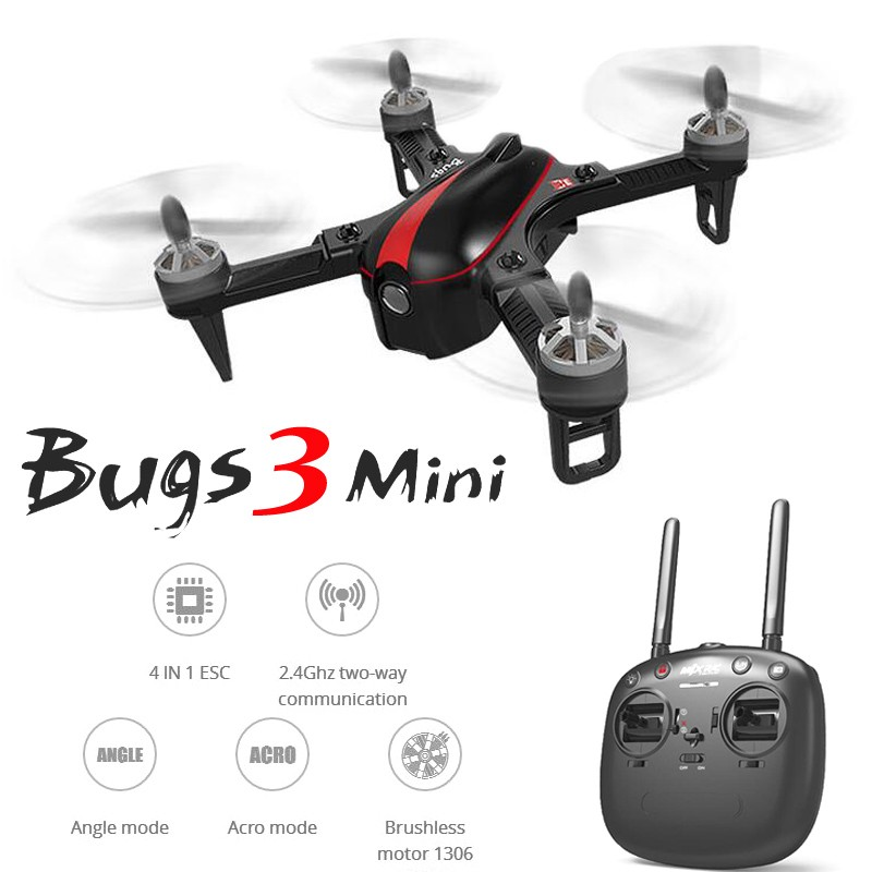 MJX B3mini with Brushless Motor 2.4G 6Axis RC Racing Drone Angle Acro Mode Support C5000 C5810 RC Quadcopter Drone RTF VS MJX B3 aviax h2o waterproof drone headless mode 2 4ghz 6axis gyro quadcopter rc explorers led flashing lights support diy rtf