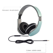 Foldable Headphone Headset 3.5mm Earphone Stereo Headset Headphone for MP3,4 ,PC, iPhone,Android Smartphone+Earphone Bag