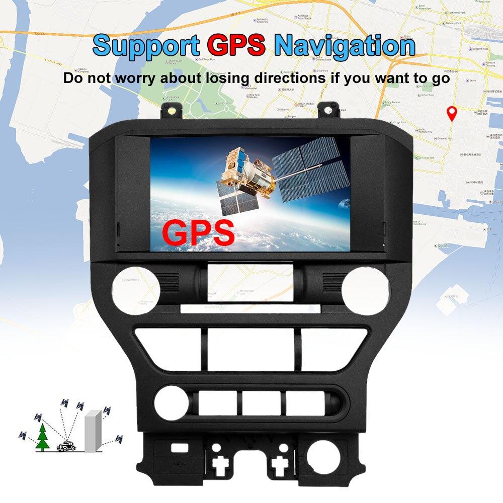 2 Din Voiture de Navigation DVD Lecteur Multimédia 8 pouces Écran avec Européenne Carte GPS de Navigation Pour Ford Pour Mustang 2015 2016 2017