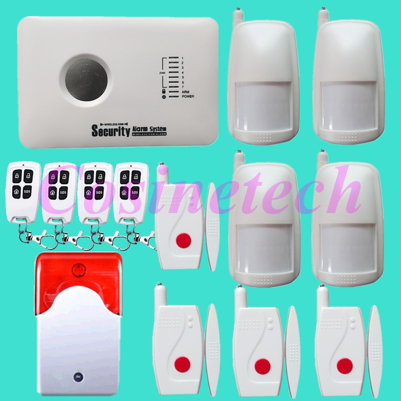 NEW Wireless GSM Home Security Alarm System strobe siren,alarm sensors with long-life battery,APP alarm home safety alarm 433mhz wireless quadband dual networks gsm pstn alarm system home security anti theft alarm with wireless strobe siren