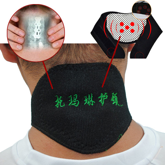 1pc Tourmaline Magnetic Therapy Neck Massager Vertebra Protection Spontaneous Heating Belt Body Massager 2015 -- TML02 PT49