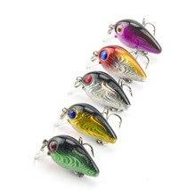 5PCS/Lot 1.5g 3cm Topwater 0.1-0.5m Wobbler Japan Mini Fly Fishing Crankbait Cranks Lure Baits