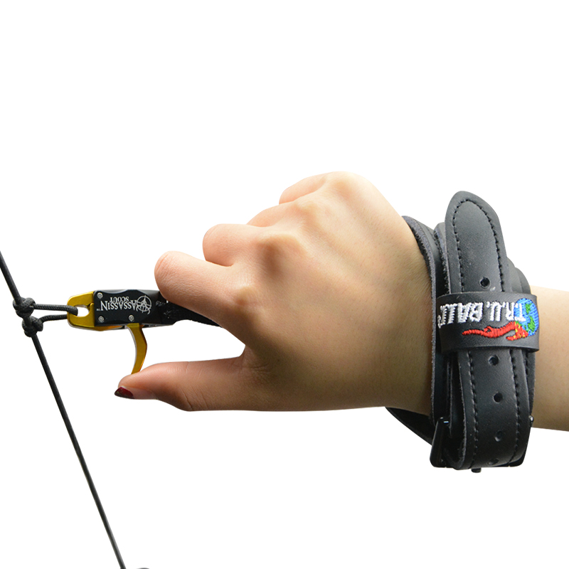 Image 5 - Archery Compound Bow Releases CNC Aluminum Alloy+Cowhide Wristband Camping Practicing Shooting Hunting Bow And Arrow Accessories-in Bow & Arrow from Sports & Entertainment