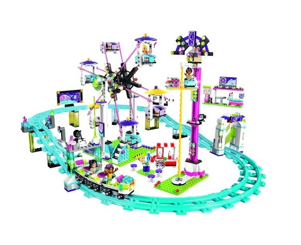 Bela 10563 1136pcs Friends Series Amusement Park Roller Coaster Model Building Blocks Bricks Playgame Toys For Children 41130-in Blocks from Toys & Hobbies