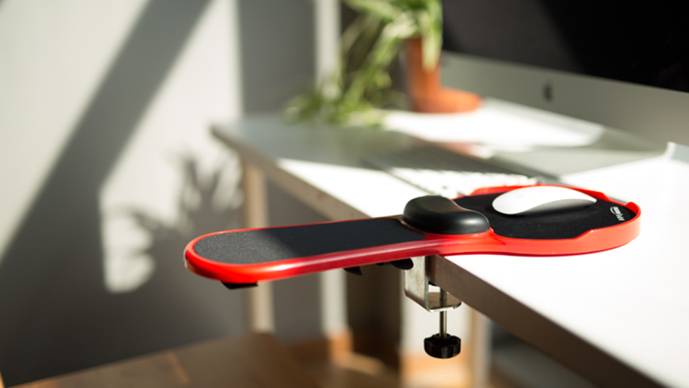 Gmilli bureau/chaise PC ergonomique Support de bras en mousse à mémoire et repose-poignet tapis de souris tapis Extender en Premium réglable - 5