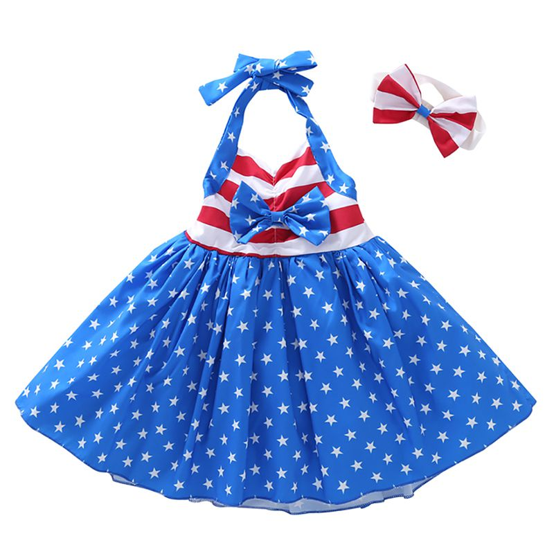 Baby Boy Girl Clothes infant Girls Dresses Pentacles Braces Princess Dresses for 1~3 y