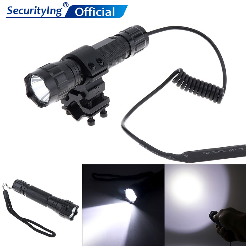 SecurityIng 501B XM L T6 LED 2000LM 5 Switch Modes Rechargeable Portable Light Tactical Flashlight for Drilling Hunting in LED Flashlights from Lights Lighting
