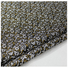 HLQON brocade malt flower black white fabric patchwork felt tissue telas bed sheet cheongsam dress children coat 75cm width(China)