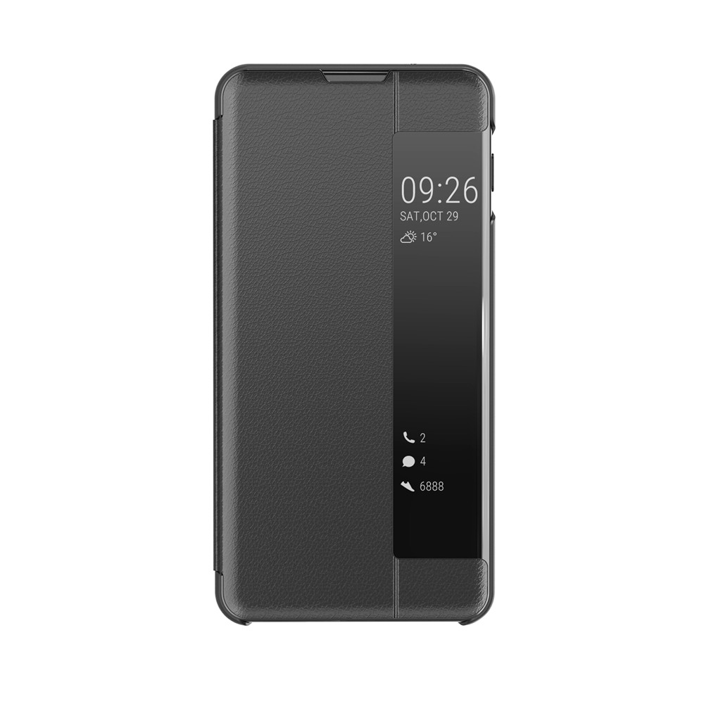 Clear View Smart Mirror <font><b>Case</b></font> for <font><b>Samsung</b></font> Galaxy S20 Ultra <font><b>S10e</b></font> S10 S9 S8 Plus S7 Edge Note 10 9 8 PU Leather Protective Cover image