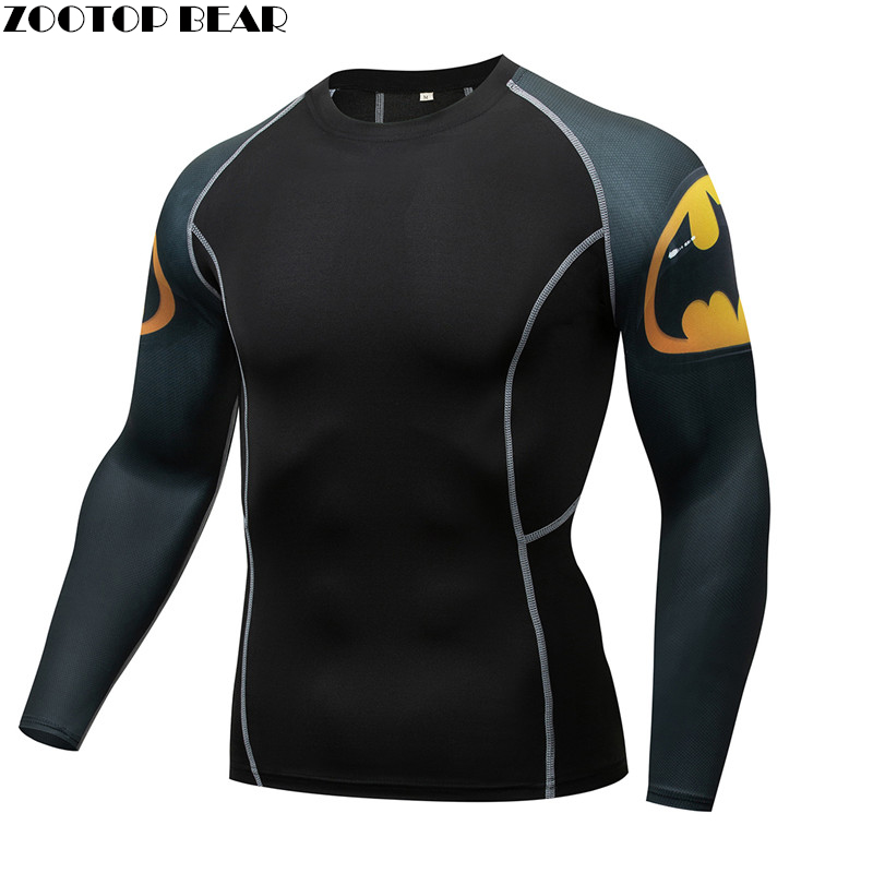 MMA Compression Men Sign T shirt  quick dry Elastic Base Layer Skin Tight Weight Lifting Crossfit Top Tee Rash guard Fitness