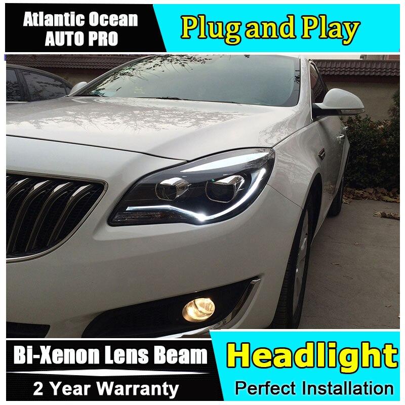 Phare de voiture style LED pour Opel Insignia phares 2014 2015 nouveauté LED drl HID KIT bi xénon lentille feux de croisement - 3