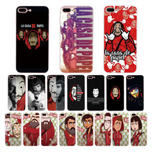 TV series Money Heist House of Paper Soft TPU phone cover for iPhone 7 8 6 6S Plus X XS MAX XR case 5s 5 SE shell Funda Coque(China)