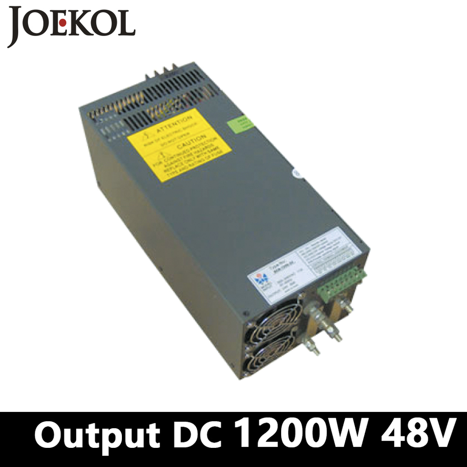 High-power Switching Power Supply 1200W 48v 25A,Single Output Industrial-grade Power Supply,AC110V/220V Transformer To DC 48V