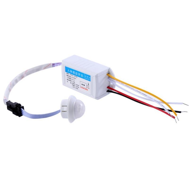 1pcs 220V IR Infrared Module Body Sensor Intelligent Light Motion Sensing Switch Sensing Switch vibration switch sensor module w dupont cable for intelligent car blue