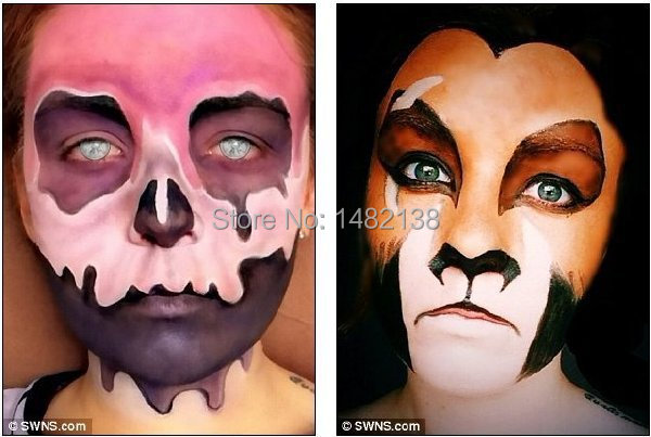 halloween fancy party clown face painting greasepaint 8color makeup