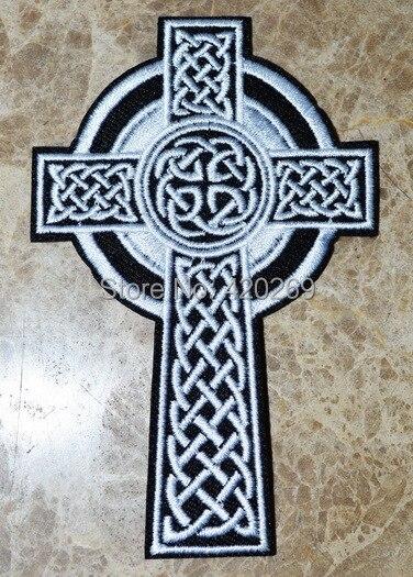 Chaude Croix Brodé Chrétien Vente Irlandais Celtique ~ Fer Jésus 7SggcHTW