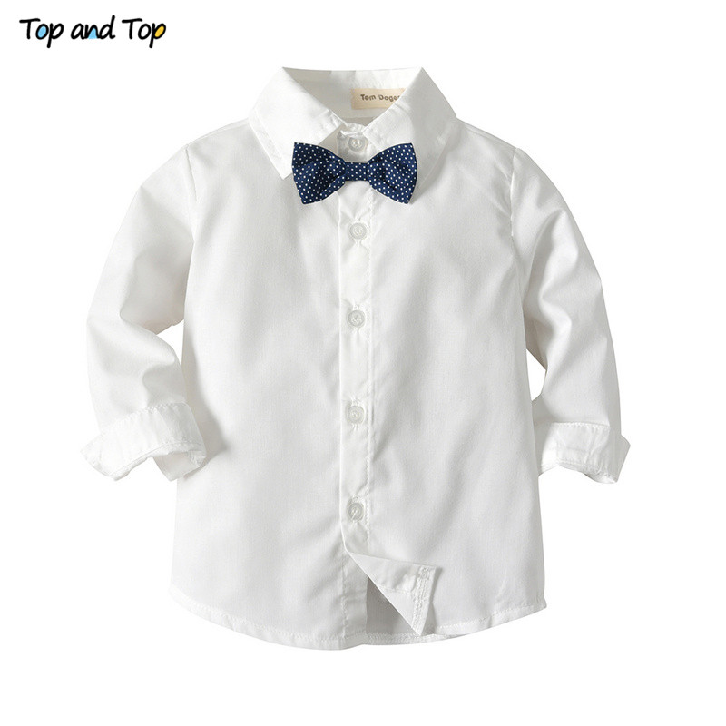 Image 4 - Top and Top Winter Children Clothing Gentleman Kids Boys Clothes Set Shirt+Vest+Pants and Tie Party Baby Boys Clothes 3Pcs/set-in Clothing Sets from Mother & Kids