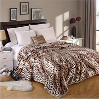 leopard print Modern Soft Brown/Grey/Blue Solid Color Flannel Blanket Home/Bed/sofa 120x200/150x200/180*200/200x230cm