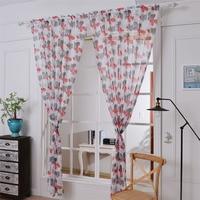 Lovely Pet 1 PC 180cm x 145 cm Flower Tulle Door Window Curtain New Home Decor Drop Shiiping 70720