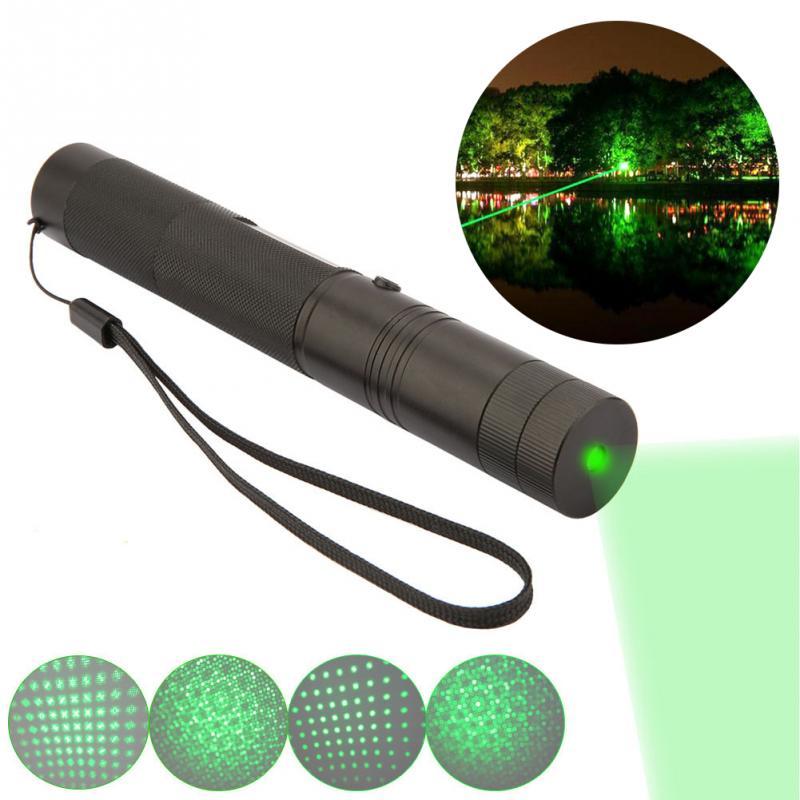 Green Lighting Laser Flashlight Torch Pointer Adjustable Focus Burning Game Leisure Keyed Battery Charger Flashlight laser hijau jarak jauh