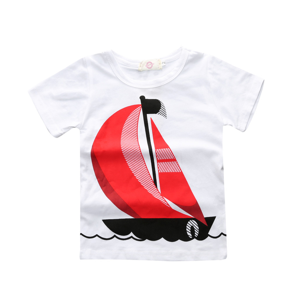 65ab228a3 Children's clothing sets Summer Baby boy suit white boat t shirts+red t  shirts+Boat print t shirt+jeans kids 4pcs suit set-in Clothing Sets from  Mother ...