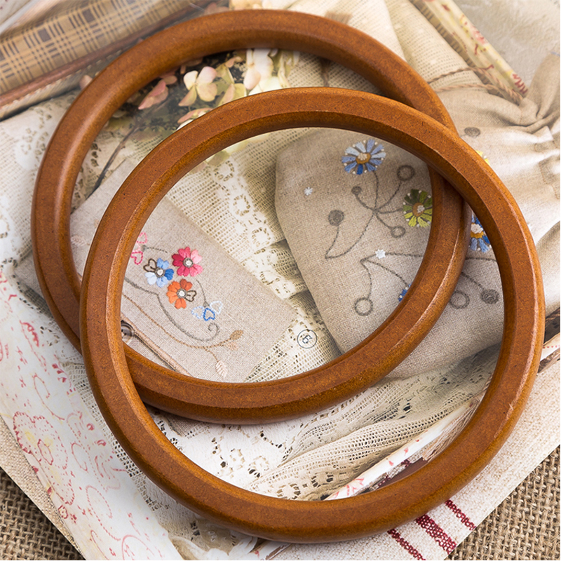 YESIKIMI 1 Pair Circle Wood Bag Handles Brown Color Handle For Women's Handbags DIY Bag Accessories Replacement Bag Handles free shipping 1 pair 60cm high quality rope bags handles split leather bag handles for diy bag parts genuine leather bag handle