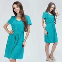 Mamalove mode vêtements de maternité coton robes allaitement robe d'allaitement robe de maternité d'été pour les femmes enceintes d'alimentation