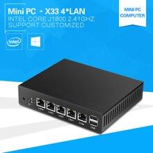 4*Ethernet RJ-45 Lan Ports Mini PC Celeron J1800 Dual Cores 2.41Ghz Pfsense Firewall Router Network Security Desktop Windows 10