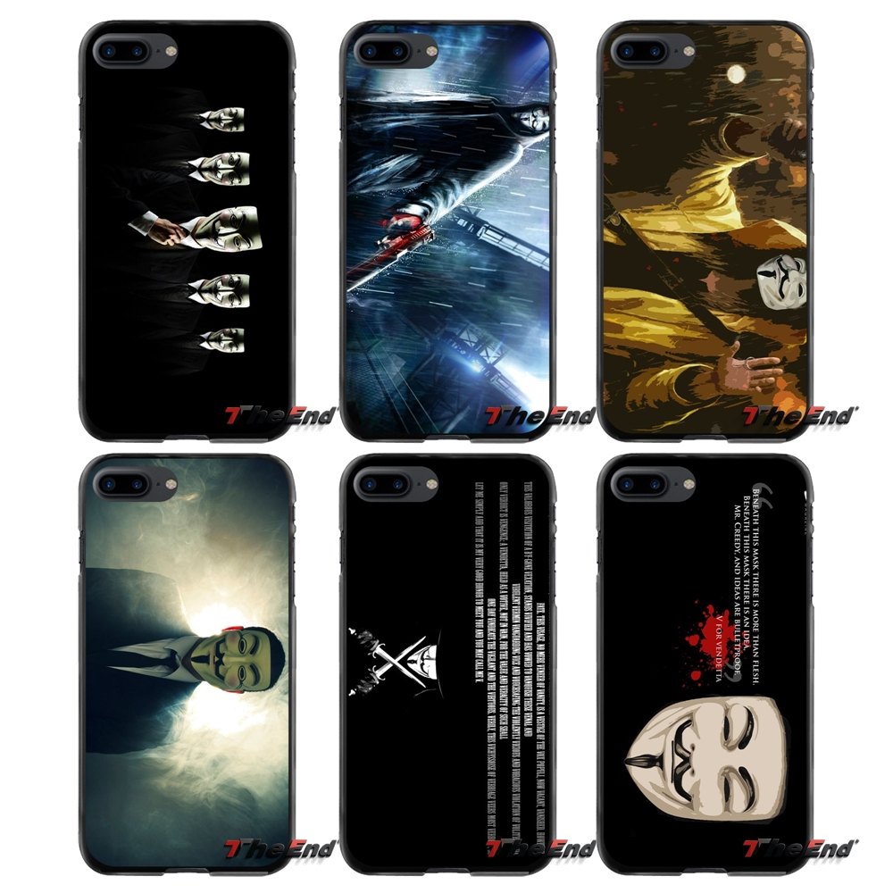 Accessories Phone Cases Covers V for Vendetta film Poster For Apple iPhone 4 4S 5 5S 5C SE 6 6S 7 8 Plus X iPod Touch 4 5 6