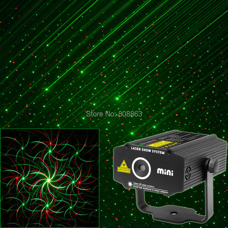 New model Mini 2in1 effect R&G Whirlwind Laser Projector Stage xmas club Disco DJ bar Club family party lighting light show p13 mini rgb led party disco club dj light crystal magic ball effect stage lighting