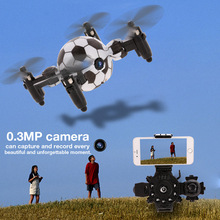Mini Football Foldable Flying Aircraft Children's Toys 2.4G Watch Remote Control Drone with Camera hd RC soccer Quadcopter toy