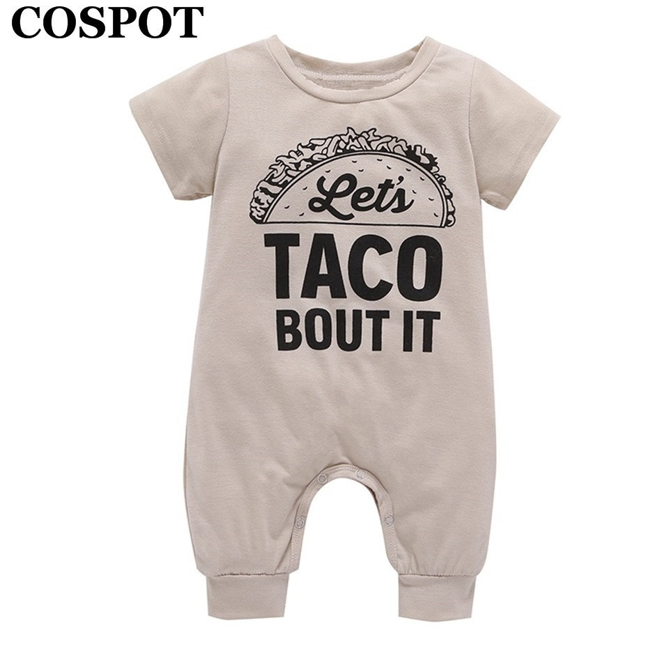 COSPOT 2018 Newborn Summer Romper Cotton Gray Short Sleeve Cartoon Bear One Piece Jumpsuit Baby Boys Girls Body Suit Clothes E50 puseky 2017 infant romper baby boys girls jumpsuit newborn bebe clothing hooded toddler baby clothes cute panda romper costumes