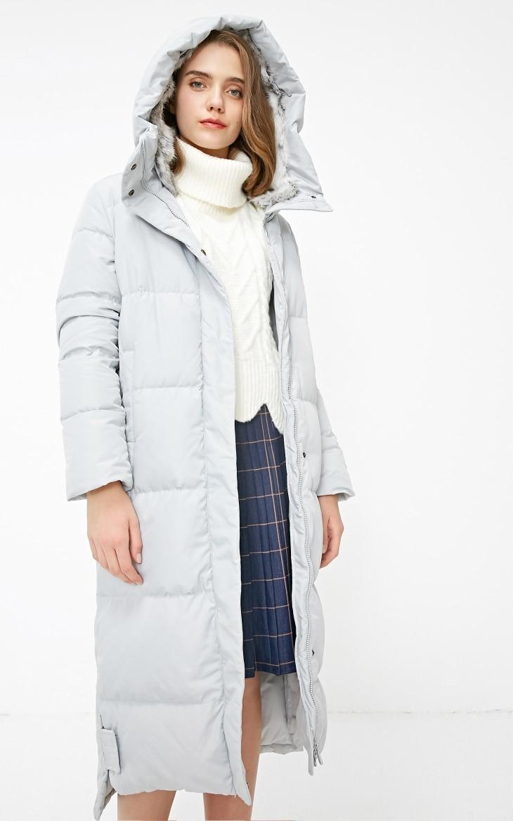 Vero Moda new detachable rabbit fur hooded long down jacket women | 318312503 22